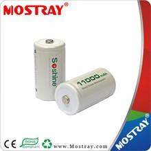 Soshine 11000mAh 1.2V NiMH Battery Rechargeable Battery
