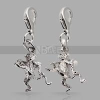 2015 Charm Pendants Silver Animal Naughty Monkey Charm