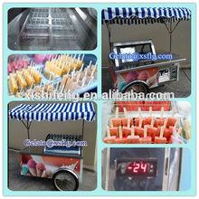 ice cream cart street & beach ice cream sorbet cart /gelato sorbet display cart