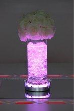 Best For Wedding Table Decoration Remote Controlled Multicolor LED Wedding Under Vase Light Base
