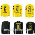 Bükme subotic 2014-15 borussia dortmund forması özel siyah sarı borussia dortmund evden futbol forması