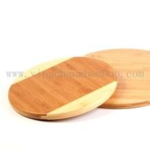 Round shape wooden cutting board