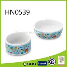 6' owl design Ceramic Pet Bowl