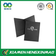Popular matte dark grey with silver foil presentation folder printing