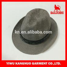 Fashion wholesale men polyester Fedora hat for man band