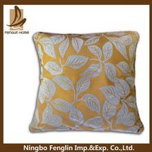 Designer useful linen and faux suede applique cushion