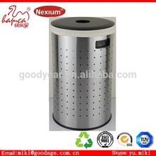 Rattan weaving laundry bin with handles ABS plastic lid