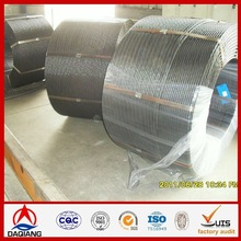 high carbon 7wire 12.7mm pc steel strand for railway sleeper