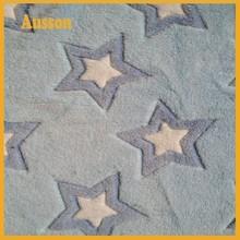 200gsm 100 polyester coral fleece star textil for blanket