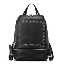 America and Europe Styles School backpack Genuine Leather with Fashion Jeruk decorations
