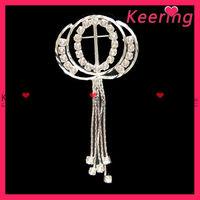Fashion silver color rhinestone brooch for wedding WBR-599