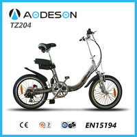 "20"" aluminium frame pocket electric bike/electric bike with lithium battery /mini folding electric bike TZ204 for girls"
