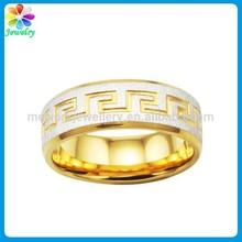 18K ROSE Gold Tone Patterns egyptian wedding rings man boy gay wedding ring