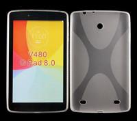 Mix colors X line Soft cover Gel TPU Case for LG G Pad 8.0 V480