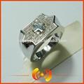 zircon cloutés en forme de croix en argent gravé bijoux bague de fiançailles