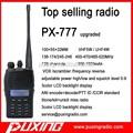 Radio de dos vías puxing walkie talkie profesional px-777 vox de radio frecuencia scrambler 50ctcss+104dcs inversa