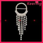 Fashion silver colorcheap rhinestone brooch for wedding in bulk designs WBR-594