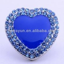 Wholesale popular love heart shape snap press button for bracelet