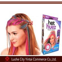 Hot selling hot huze 4 pieces temporary powder form hair chalk china hair dye