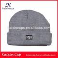 Venta al por mayor de lana de punto sombrero y gorra beanie/gris cálido sombreros kntting/personalizado de alta calidad de tejido lable tapa gorro de navidad sombrero del invierno