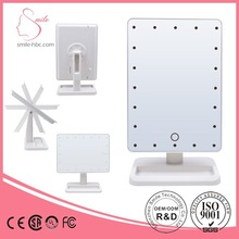 Export to Japan product Fashion plastic cosmetic Standing makeup mirror for beauty care