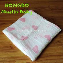 Soft Organic Cotton Baby Blanket Bamboo Baby Muslin Wrap Cloth