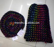 2014 Fashionable 100% acrylic winter knitting hat and scarf set