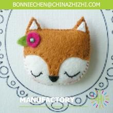 arts and craft ,felt brooch craft,fox brooch ZZFB030