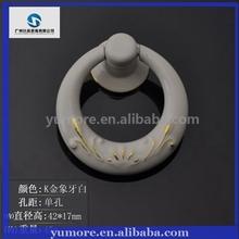 Novel design furniture handle Ivory ring ceramic door knobs