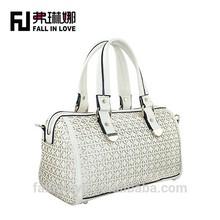 2014 fashion designed wholesale Pierced beautiful daisy pattern popular lady shoulder bag pu bag