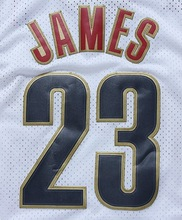 LeBron James #23 Cleveland Classic Throwback White Basketball Jersey