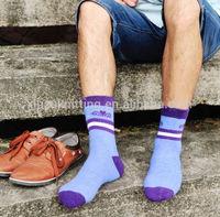 China Fashion Comfort Men Two Stripes Crew Sock