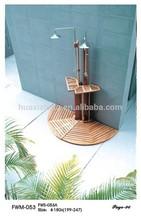 Outdoor garden soild wood swimming pool wood outdoor shower FWM-053