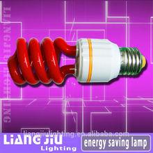 special design red half spiral energy saivng lamp