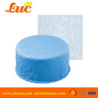 Lsm2231 Fondant Silicon Lace Round Decorations Birthday Wedding Cake