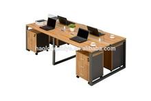 2014 latest office table designs four person computer desk