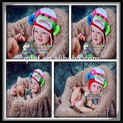 Wholesale handmade crochet monkey pattern,knitted baby winter hat,handmade crochet baby boy beanie hat