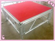 adjustable height 18mm hight quality anti-slip plywood aluminum stage