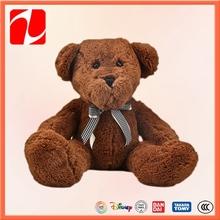 grosso marrom baratos personalizado urso de pelúcia com laço