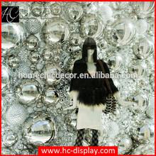 Fashion window display props shiny decorative large mirror ball