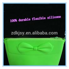 reusable woman single shoulder o bag rubber bag silicone tote bag