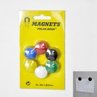 Whiteboard colorful small round magnets