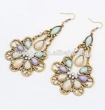 Europe exotic peacock beautiful earrings jewelry ear dangler 111370 china supplier