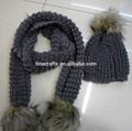 inverno maglia sciarpa e cappello set