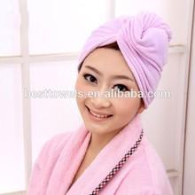 Top Quality Microfiber Hair Drying Towel Turban Towels Wrap