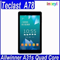 "7.0""inch 1024x600 Pixels Teclast A78 Tablet PC AllWinner A33 Quad Core 1.0GHz Android 4.4.2"