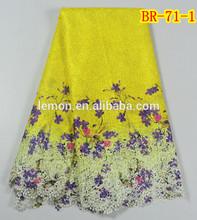 BR-71-1 Nigeria multi color cord lace African prints guipure lace