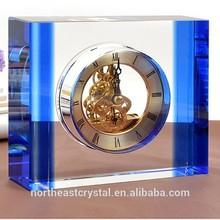 Elegant Clear Wedding Favor Crystal Clock
