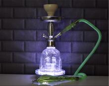 Shisha Hookah Light 6inch RGB Multi-color Led Clear Glass/Crystal Hookah Light For Bar