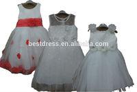 Bestdress flower girl dresses for weddings ball gowns for children party dress